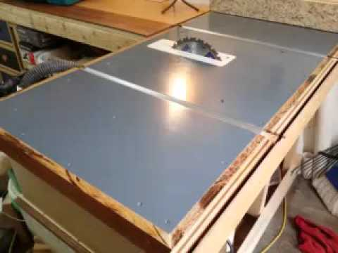 Superb Homemade Table Saw Top   YouTube