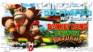 Donkey Kong Country Returns - Dolphin 5.0 | Wii Emulator Gameplay | HD.1080p 60ᶠᵖˢ