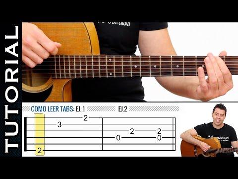 Como leer Tablaturas Tabs de guitarra fácil de guitarraviva Clase 1