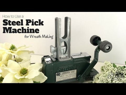 How To Use A Steel Picks Machine For Wreath Making Youtube