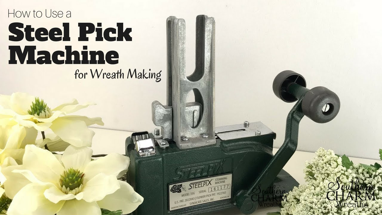 How To Use A Steel Picks Machine For Wreath Making