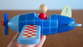 Enjoy Your First Flying Adventure With The Janod Magnetic Wooden Plane