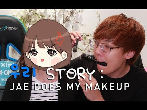 wooriSTORY - NA LCS MAKEUP STRATS???! BOYFRIEND DOES MY MAKEUP CHALLENGE