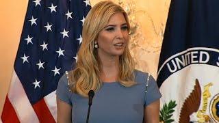 Ivanka Trump urges action on human trafficking