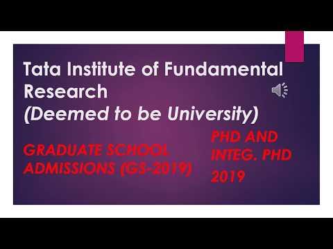 No Piewdiepie_TIFR GS- 2019 Online Application Procedure syllabus Notification  physics  chemistry