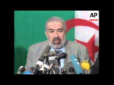 ALGERIA: PRESIDENTIAL ELECTION: RUNNER UP SHEIKH MAHFOUD NAHNAH