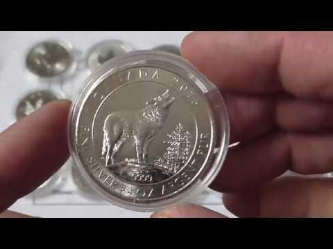 Инвестиционная добыча,17 Канадских инвестиционных, серебряных монет...