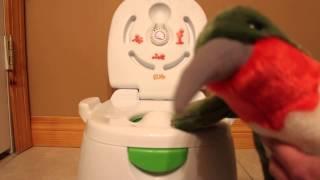 Potty Training: How to make a regular doll or stuffed animal pee on potty.
