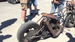 Redneck Rumble 2015 International Harvester Rat Bike Chopper