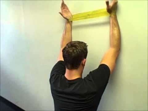 mini-band exercises for the swimmer's shoulder - YouTube