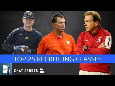 College Football Recruiting: Top 25 Recruiting Classes Leading Up To 2019 National Signing Day