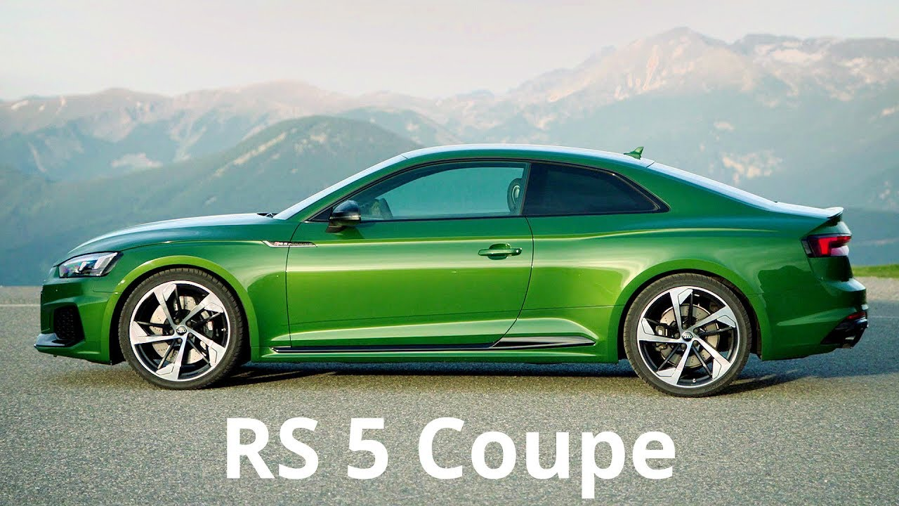 2017 Green Audi Rs 5 Coupe 450 Hp Engine Sound And