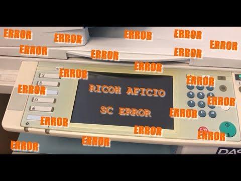 RICOH AFICIO - SC Error - SC Reset