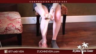 How to put on compression stockings using a silk footie.