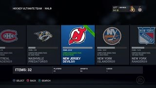 NHL 16 HUT - New Jersey Devils Collection + Pack Openings