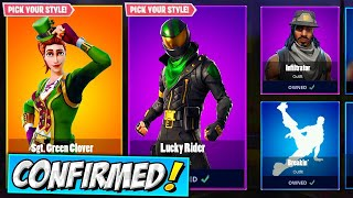 *RARE* SGT. Green Clover and Pot o' Gold and *NEW* Lucky Rider SKIN| Fortnite