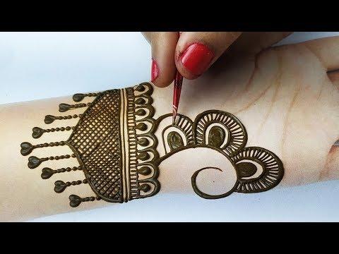 New Mehndi Design - आसान शेडेड मेहँदी डिज़ाइन लगाना सीखे - Stylish Mehndi Design for Front hands