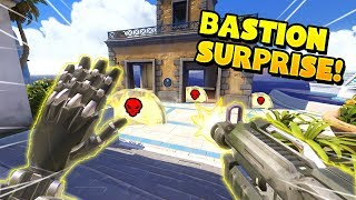 0.01% Chance Bastion SURPRISE!?! - Overwatch Funny Moments & Best Plays 9