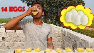 Village Guy Eats Raw Eggs | Raw Egg Challenge | Do Not Try This At Home