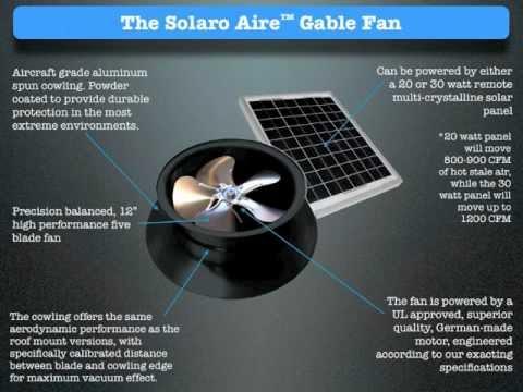 Solar Powered Attic Fan Free Energy Ventilation High