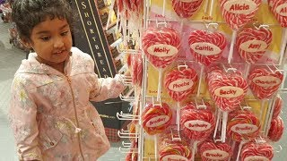 Ishfi's Candy shop visit in London with Family