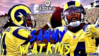 Madden 18 🏉  WR Ratings Spotlight Ft. 86 OVR SAMMY WATKINS Farewell to Madden 17!!!