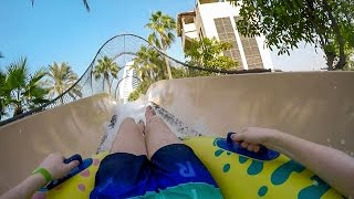 Wild Wadi Dubai - Flood River Flyer | Awesome Master Blaster Maze!