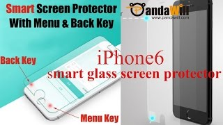 Magic Touch Smart Screen Protector With Back Menu Button for iPhone 6