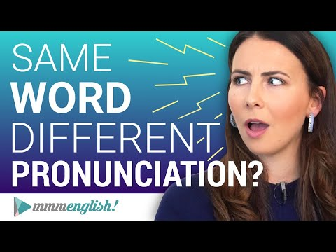Spelled the SAME, Pronounced DIFFERENTLY ?? Correct English Pronunciation