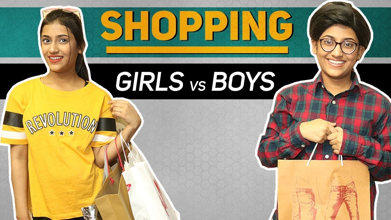 Shopping: Girls Vs Boys | SAMREEN ALI