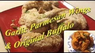How To Make Wingstop's Garlic Parmesan & Original Buffalo Chicken Wings!