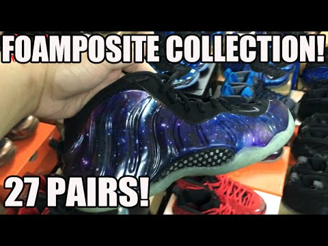 My Entire Nike Air Foamposite Collection!27 Pairs! (Pro & Penny One - Jan 2016)