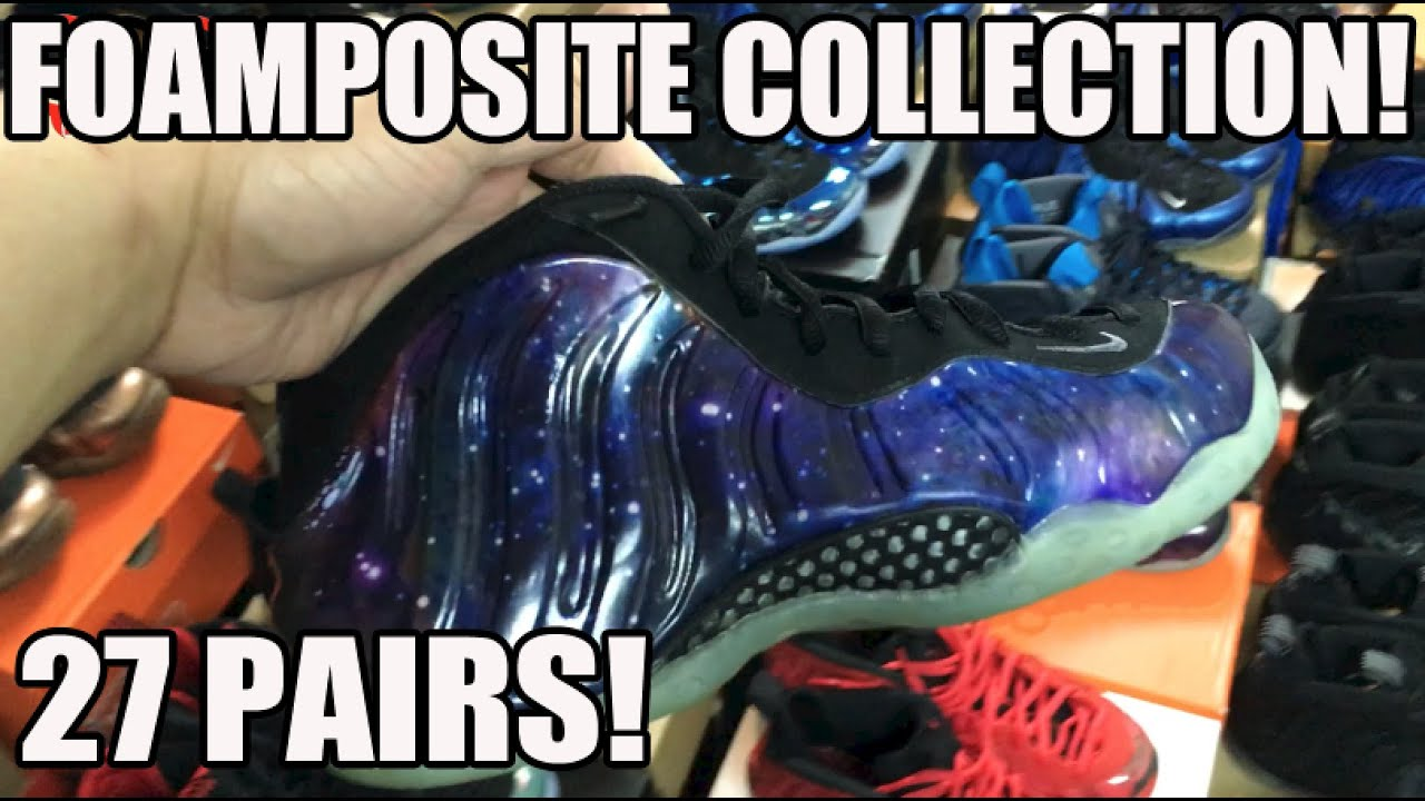 edccb7de1c898 ... official store my entire nike air foamposite collection 27 pairs pro  penny one jan 2016 youtube
