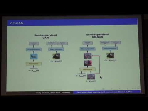 Semi-Supervised Learning with Context-Conditional Generative Adversarial Networks - Emily Denton