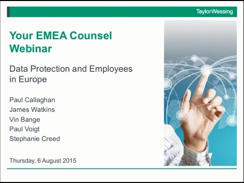 Data Protection and Employment – an overview for North Americans