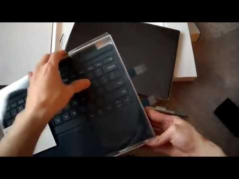 Unboxing Microsoft Surface Pro 4 MS 128GB Intel i5 skylake 4GB ram With New Type Cover 4