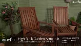 Billyoh High Back Garden Armchair