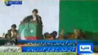 Imran Khan pti Lahore Jalsa,Biggest in history of Lahore
