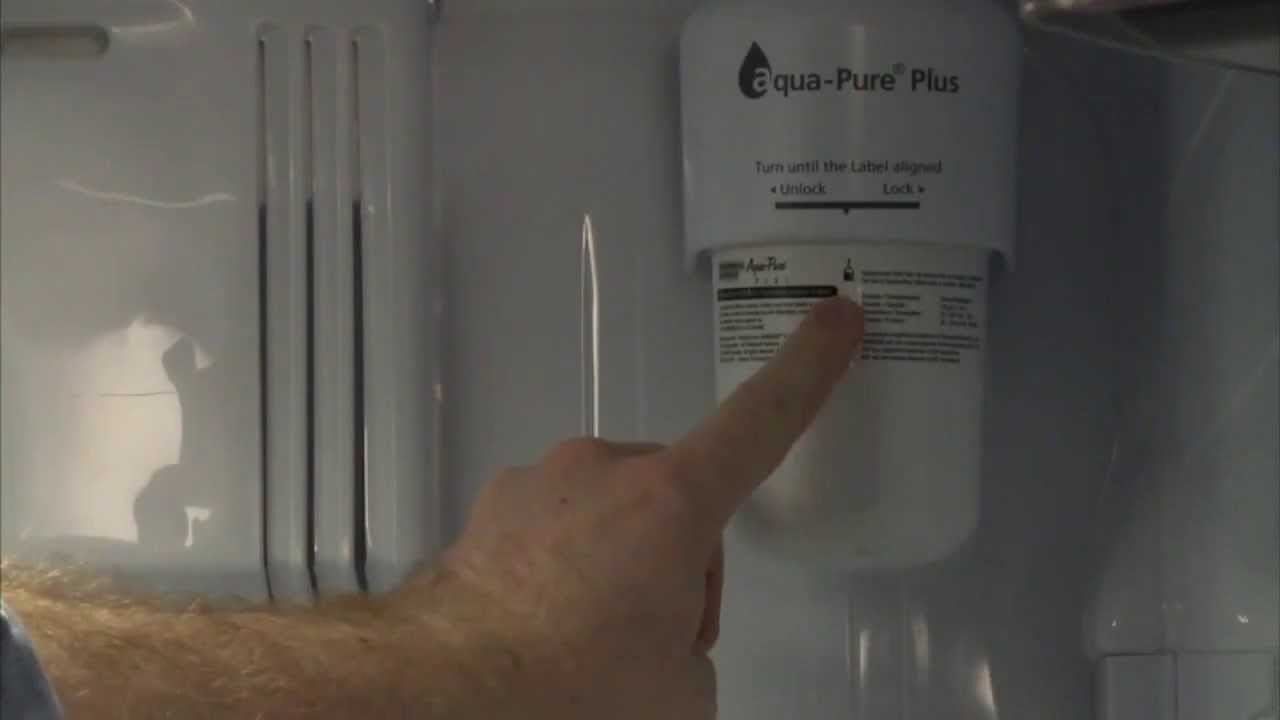 how to replace the samsung da2900003g fridge water filter on french door youtube - Da29 00003g