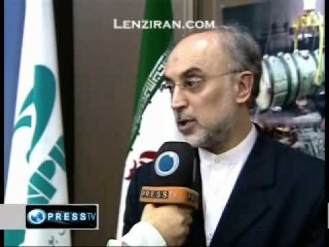 The director of Iran Atomic organization talk after loading Bushir nuclear power plant