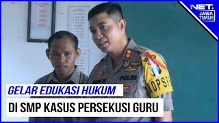 Polres Gresik Gelar Pendidikan Hukum Di SMP PGRI Wringinanom Kasus Persekusi Guru- NET. JATIM
