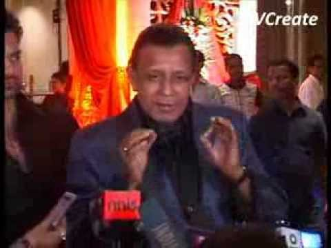 Mithun Chakraborty at Bappa Lahiri's marriage party.flv