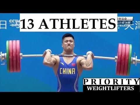 Weightlifting China 77kg Men 13 ATHLETES