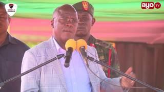 """Mashamba matano nimeyafuta, nimeyaleta kwa Mkuu wa Mkoa ayapangie matumizi"" - Rais JPM"
