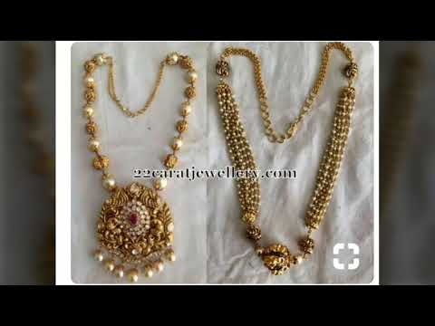 f84091b735 Simple and trendy Pearls and Beads mala designs