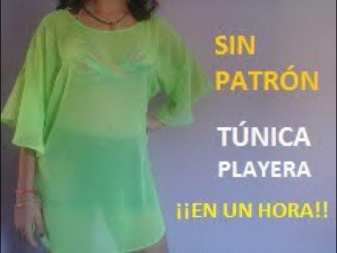 al por mayor online precios de remate venta caliente online Túnica playera (sin patrón)