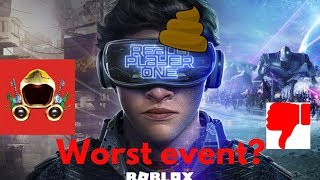 Why the Ready player one event is terrible [Worst event in Roblox history?]