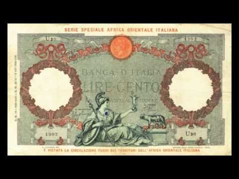 All Banknotes of Italian East African lira - 50 Lire to 1.000 Lire in HD