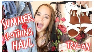 HUGE Trendy Try-On Summer Clothing Haul! 2017
