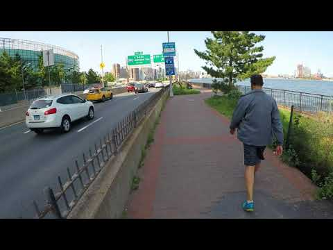 NYC Cycling East River Greenway @ Pike Slip to 37th Street